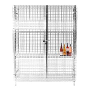 Thunder Group Inc. Security Cage 3 Tier 1 Wide Shelf Locker; 63.39'' H x 49.61'' W x 19.29'' D