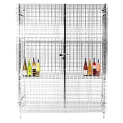 Thunder Group Inc. Security Cage 3 Tier 1 Wide Shelf Locker; 63.39'' H x 49.61'' W x 25.2'' D