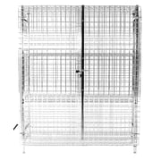 Thunder Group Inc. Security Cage 3 Tier 1 Wide Shelf Locker; 63.39'' H x 61.81'' W x 25.2'' D