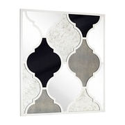 Majestic Mirror Assorted Antique Mirrors with Decorative White Lacquer Lattice Pattern