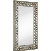 Majestic Mirror Huge Rectangular Silver Leaf With Black Rub Beveled Glass Decorative Wall Mirror