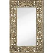 Majestic Mirror Oversized Rectangular Distressed Finish Traditional Beveled Glass Wall Mirror v
