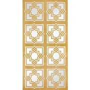 Majestic Mirror Large Rectangle Floor Mirror with Geometric Gold Leaf Detailing