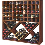Wine Enthusiast Companies Jumbo Bin Grid 100 Bottle Floor Wine Rack; Walnut