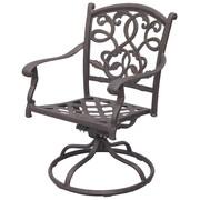 Darlee Santa Monica Swivel Dining Arm Chair
