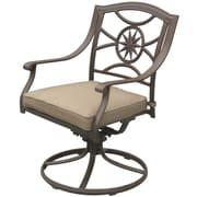 Darlee Ten Star Swivel Dining Arm Chair