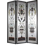 A&B Home Group, Inc 75.5'' x 59'' Decorative Screen Metal/Iron 3 Panel Room Divider