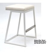 Indo Puri Widya 29.5'' Bar Stool; White
