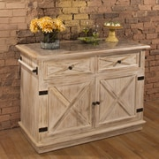 Hillsdale Carter Kitchen Island with Marble Top
