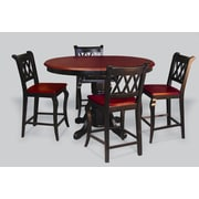 Sunset Trading Sunset Selections 5 Piece Pub Table Set; Antique Black with Cherry