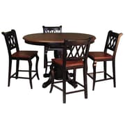 Sunset Trading Sunset Selections Pub Table; Antique Black with Cherry