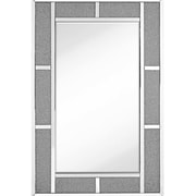 Majestic Mirror Contemporary Beveled Glass With Glass Beads Rectangular Accent Mirror