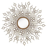 Majestic Mirror Glamourous Starburst Circular Shiny Decorative Glass Wall Mirror
