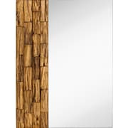 Majestic Mirror Natural Wood One Sided Accent Mirror