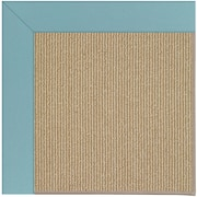 Capel Zoe Machine Tufted Bright Blue/Brown Area Rug; Square 10'
