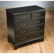 AA Importing 5 Drawer Chest; Black