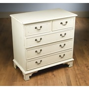 AA Importing 5 Drawer Chest; Antique White