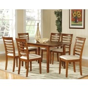 Wooden Importers Picasso Dining Table; Saddle Brown