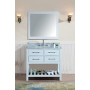Ari Kitchen & Bath Manhattan 36'' Single Bathroom Vanity Set w/ Mirror; White