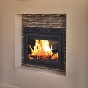 Supreme Fireplaces Inc. Duet See Through Fireplace; Charcoal by