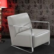 VIG Furniture Divani Casa Bison Leather Artm Chair; Grey