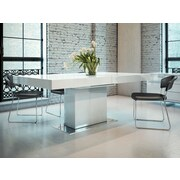 Modloft Astor Dining Table; White Lacquer