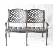 K B Patio Newport Aluminum Garden Bench