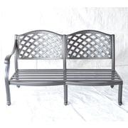 K B Patio Newport Right Arm Aluminum Garden Bench