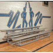 Bison Sports Indoor All Aluminum 2 Tier Easy Store Bleacher; 90''L