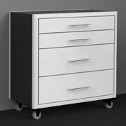 Challenger Designs LLC Meridian Series Tool Box 36'' Wide 4 Drawer Bottom Cabinet; White