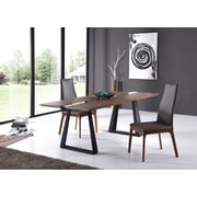 VIG Furniture Modrest Corey Modern Walnut & Glass Dining Table