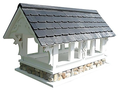 Home Bazaar Signature Series Covered Bridge Gazebo Bird Feeder (WYF078276415534) photo