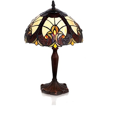 River of Goods Halston Tiffany Style Stained Glass 16'' Table Lamp