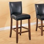 Wildon Home   Soho 24'' Bar Stool with Cushion (Set of 2); Black