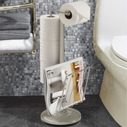 Better Living Products Free Standing Toilet Paper Holder; Satin Nickel