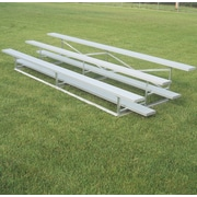 Bison Sports Outdoor All Aluminum 3 Tier Weatherbeater Bleacher; 252''L