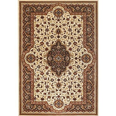 Chandra Silver Brown/Tan Area Rug; 5'3'' x 7'4''