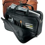 Andrew Philips Vaqueta Napa Organizer Leather Laptop Briefcase; Black