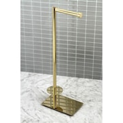 Kingston Brass Claremont Freestanding Toilet Paper Holder; Polished Brass