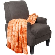 BOON Throw & Blanket Tie Dye Double Sided Faux Fur Throw Blanket; Orange