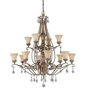 Vaxcel Avenant 12-Light Shaded Chandelier