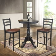 Carolina Cottage Newport 30'' Pub Table; Antique Black
