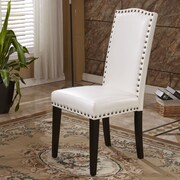 Bellasario Collection Elegant Parsons Chair (Set of 2); White