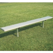 Bison Sports All Aluminum Fixed Player Bench; 252'' L