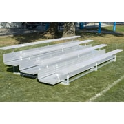 Bison Sports Outdoor XL All Aluminum 2 Tier Weatherbeater Bleacher