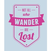 SweetumsWallDecals Not All Who Wander Are Lost Wall Decal; Hot Pink