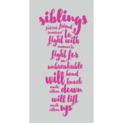 SweetumsWallDecals Siblings Wall Decal; Hot Pink
