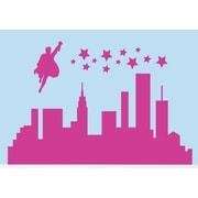 SweetumsWallDecals Super Hero City Wall Decal; Hot Pink