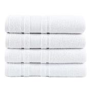 Berrnour Home Solomon Luxury Bath Towel (Set of 4); White