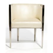 Designer Casa Signature Lounge Chair; White